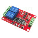 Multifunction Self-lock 2 Relay Timer Switch Module, 12VDC